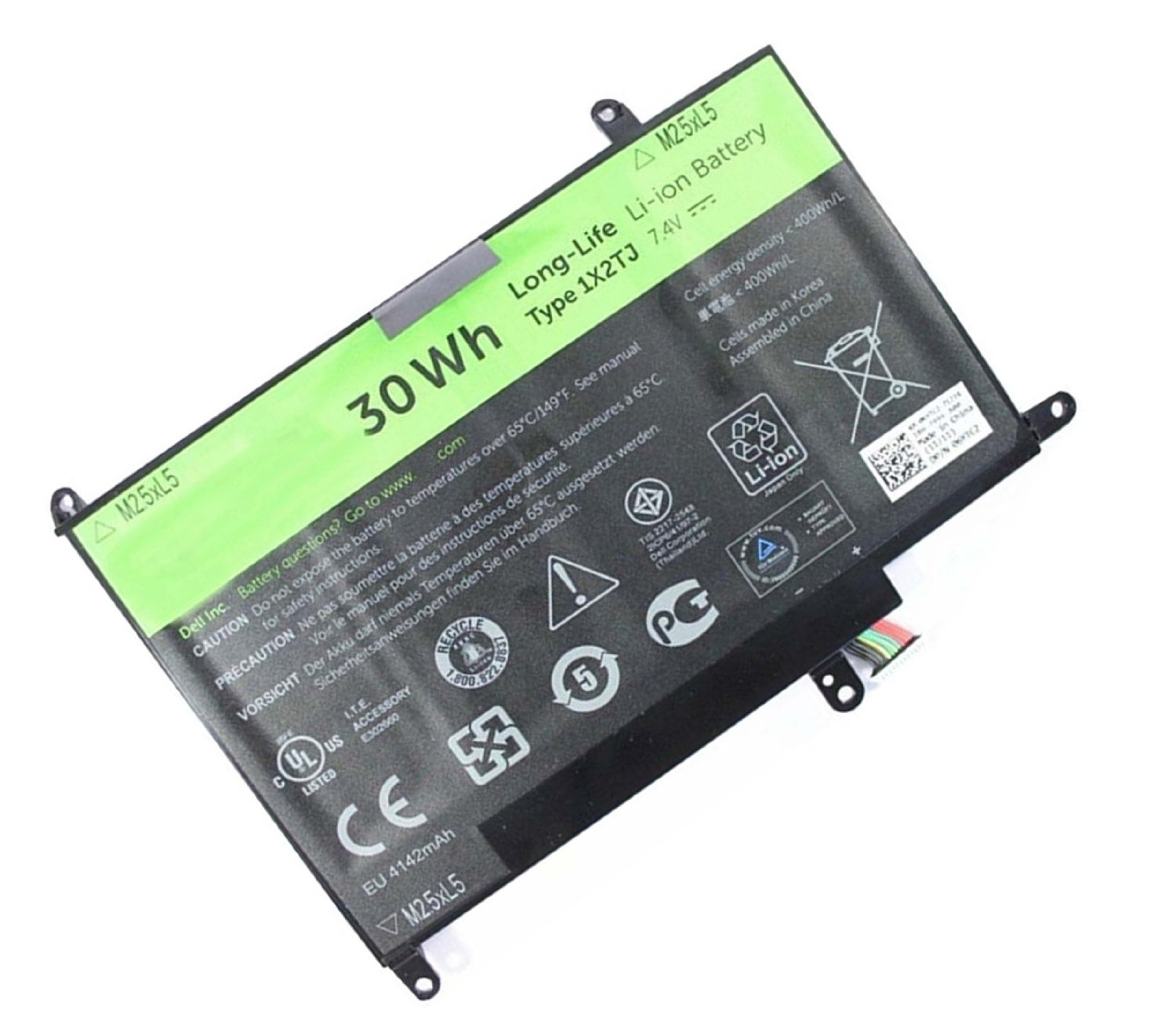 30WH Dell Latitude St St-lST01 06TYC2 Batterie PC Portable