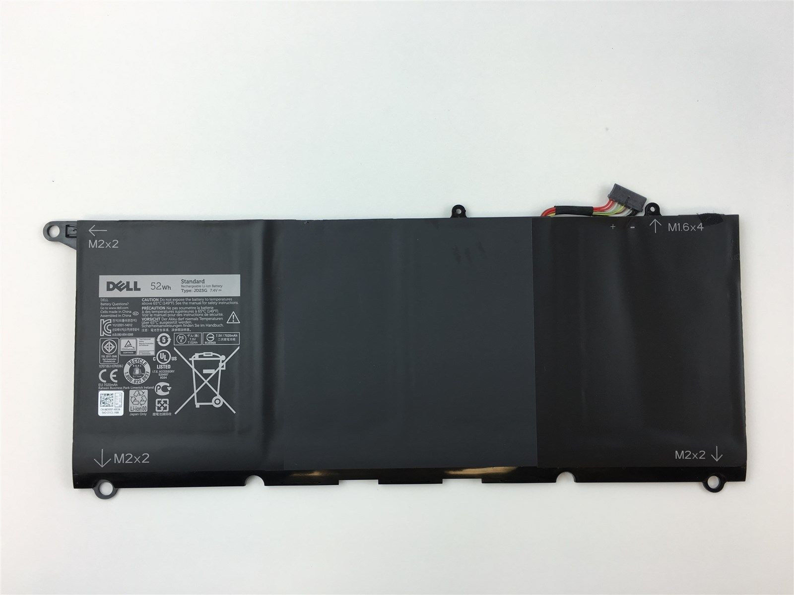 52WH Dell XPS 13 9343 0DRRP Batterie PC Portable