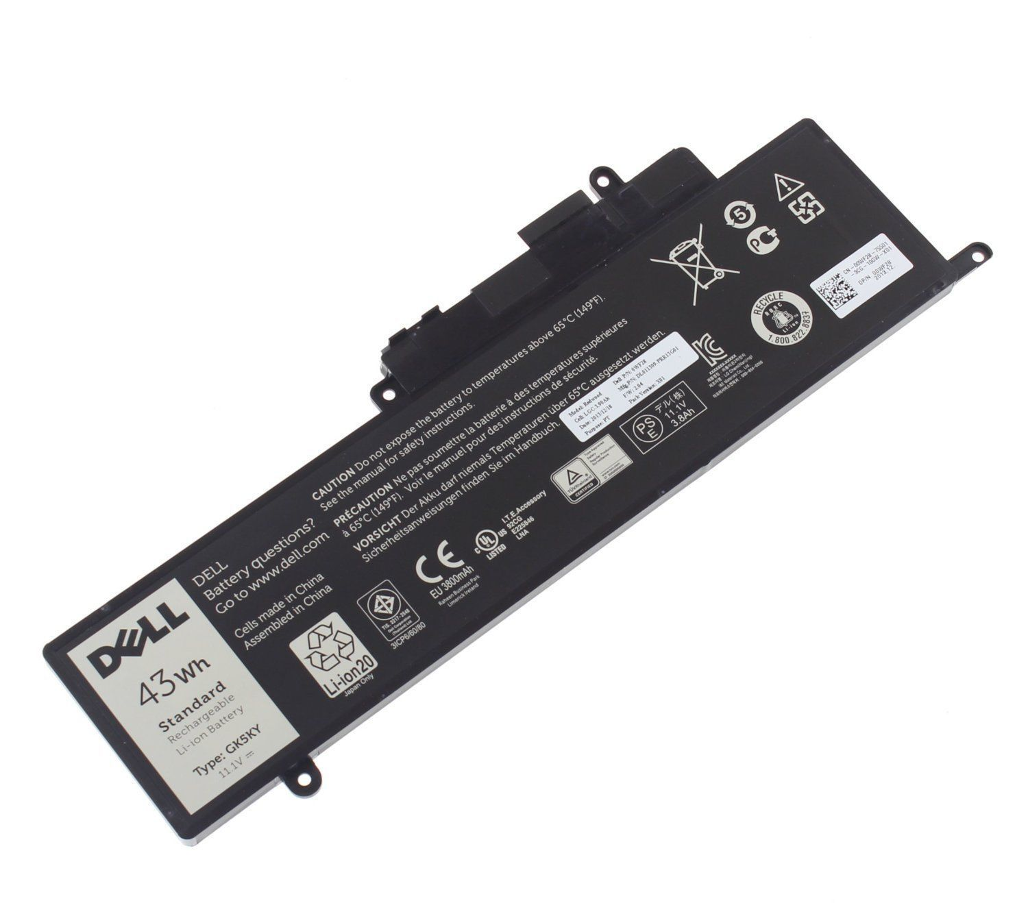 43Wh Dell Inspiron 13 7347 0WF28 Batterie PC Portable