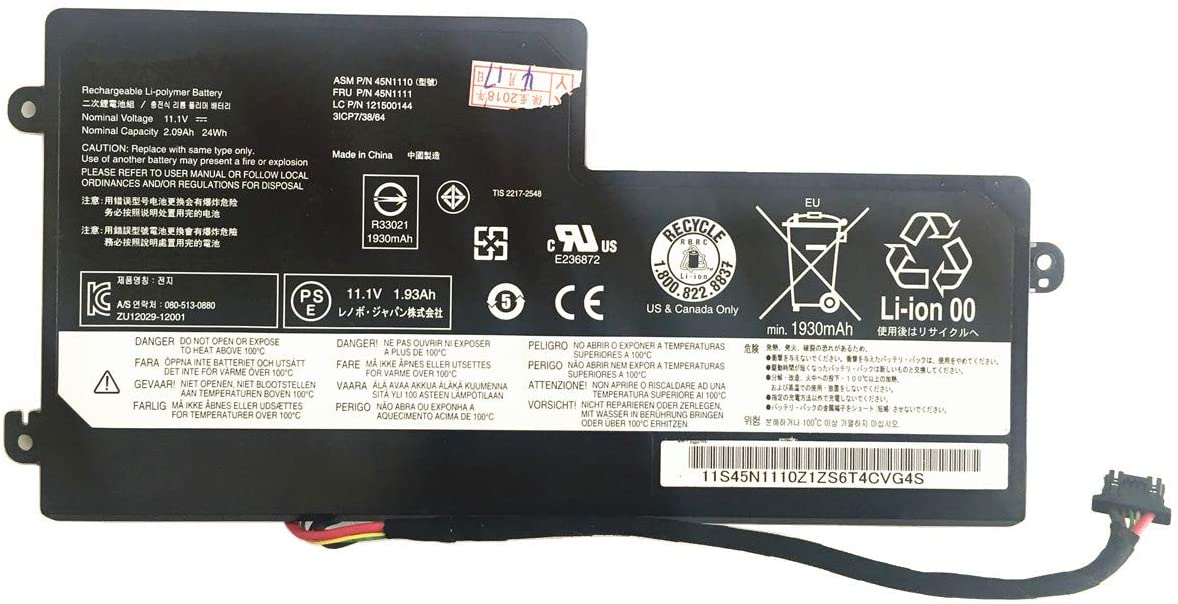 11.4V 24Wh 2.06Ah 45N1112 Remplacement Batterie pour IBM Lenovo ThinkPad X240 T440 45N1108 45N1109 45N1113