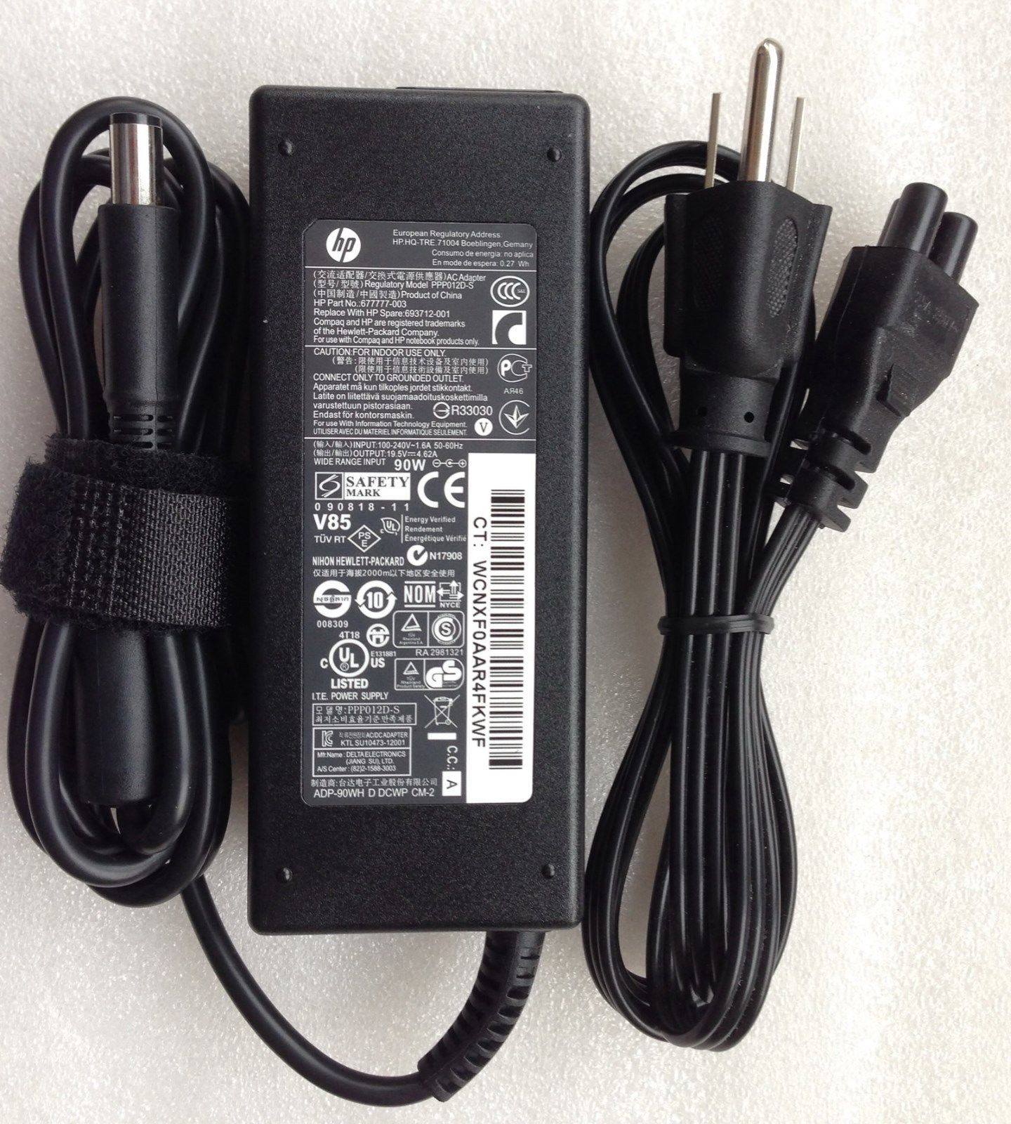 19.5V 4.62A HP ENVY m6-1184ca 677777-001 Chargeurs