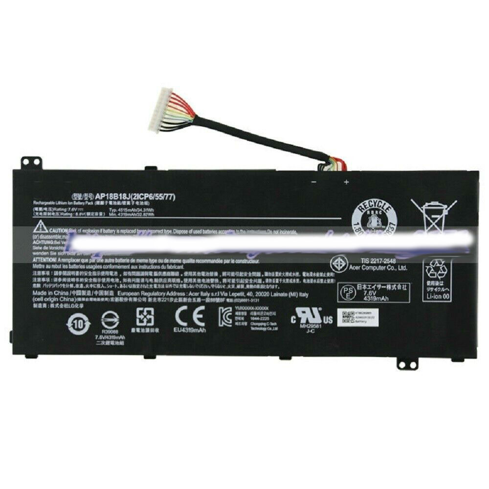 For AP18B18J 2ICP6/55/77 Laptop Batterie AP18B18J 7.6V Genuine New