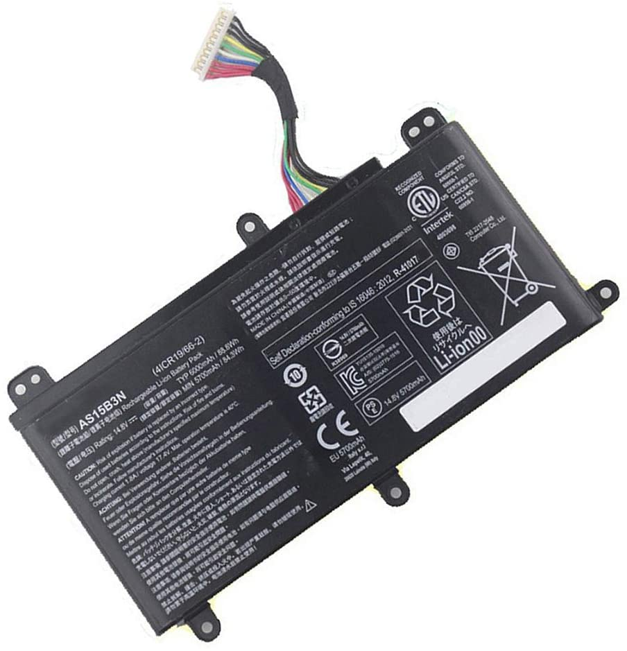 14.8V 88.8Wh 6000mAh AS15B3N KT.00803.004 4ICR19/66-2 Remplacement Batterie pour Acer Predator G9-591 G9-592 G9-791 G9-792 GX-79