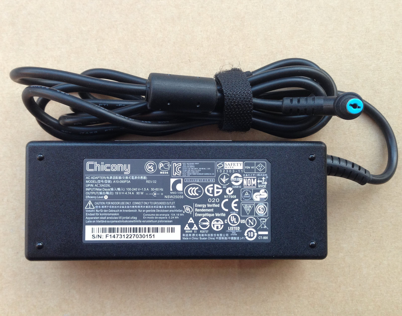 4.74A Acer Aspire X AXC-704G-UW61 A090A029L Chargeurs