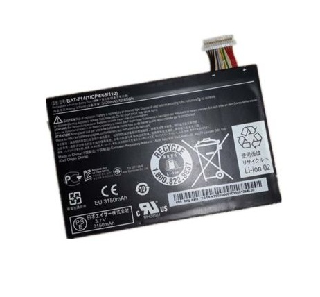 Original 3420mAh /12.65WH Acer Iconia Tab A110 BAT-714 Batterie PC Portable