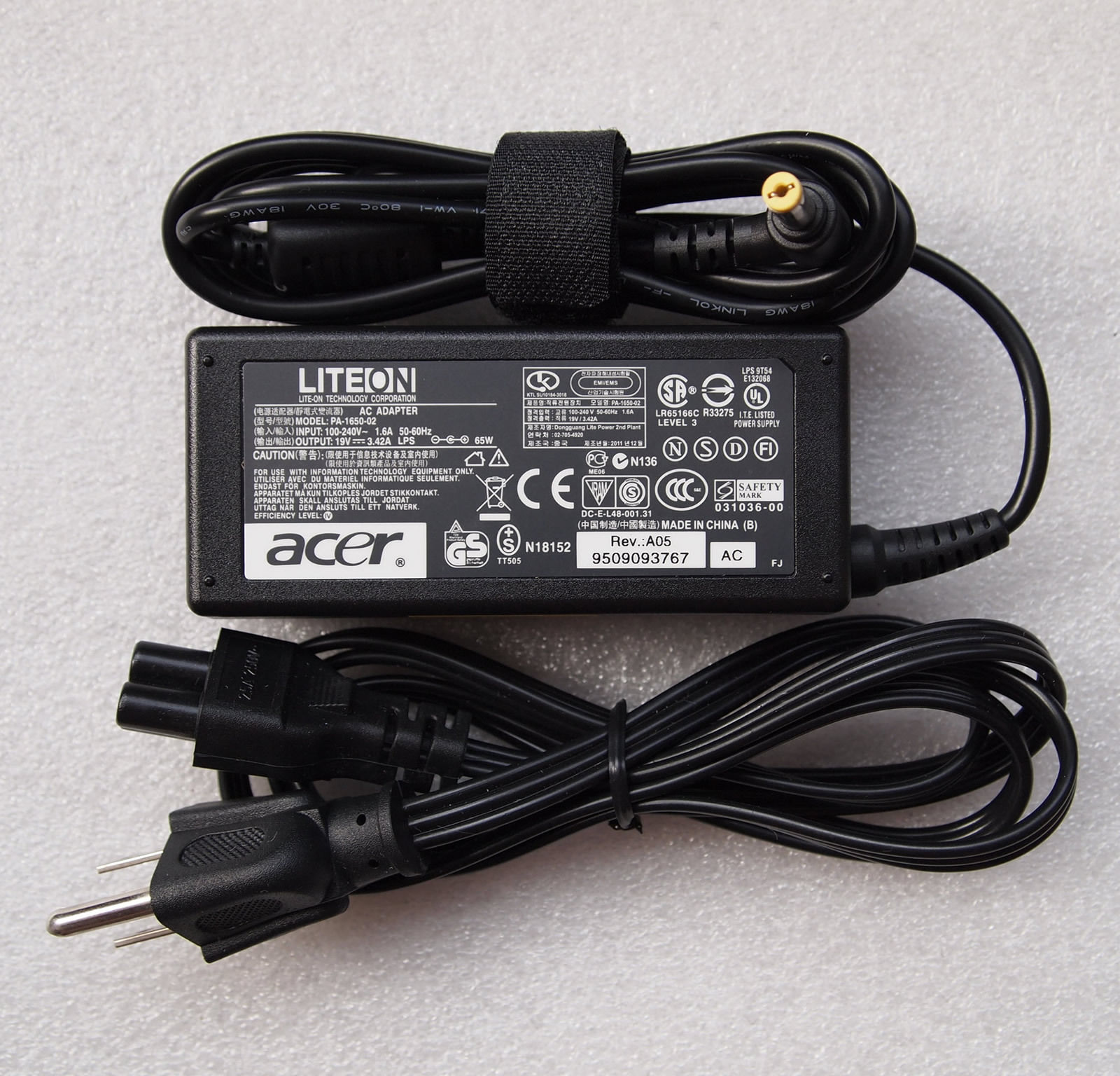 19V 3.42A Acer TravelMate P453-M PA-1650-22 Chargeurs