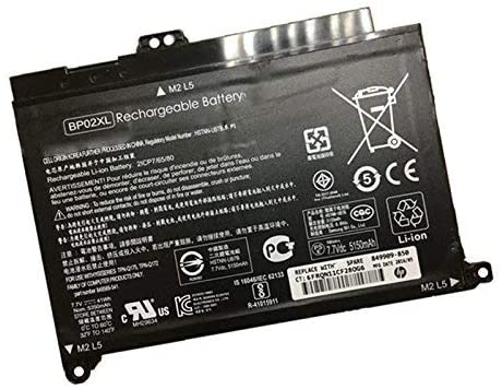 BP02XL Batterie d'ordinateur Portable pour HP Pavilion PC 15 15-AU 849909-850 (F9-21) 849569-421 HSTNN-LB7H BP02041XL(7.7V 41Wh