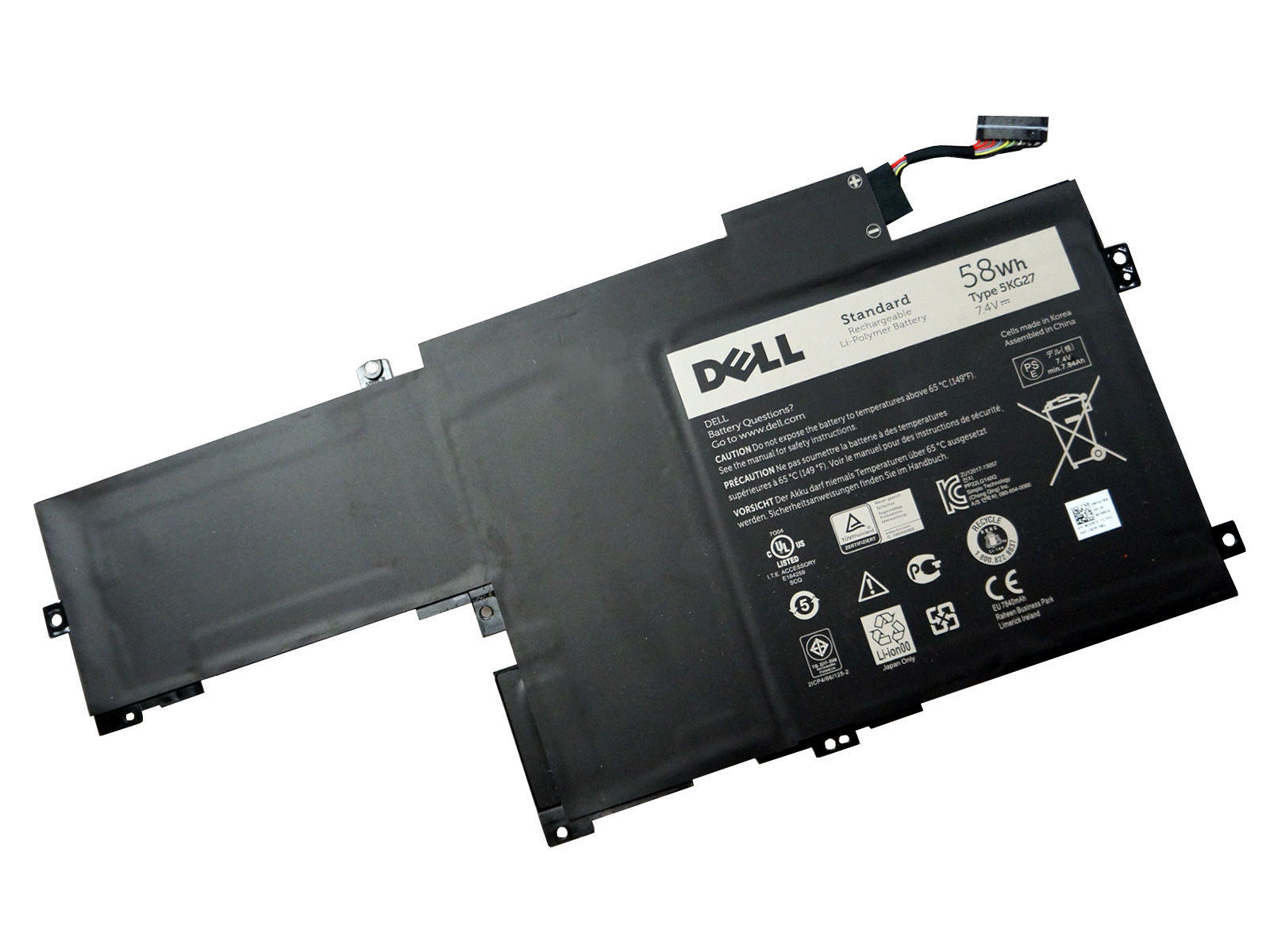 58WH Dell Inspiron 14-7437 C4MF8 Batterie PC Portable