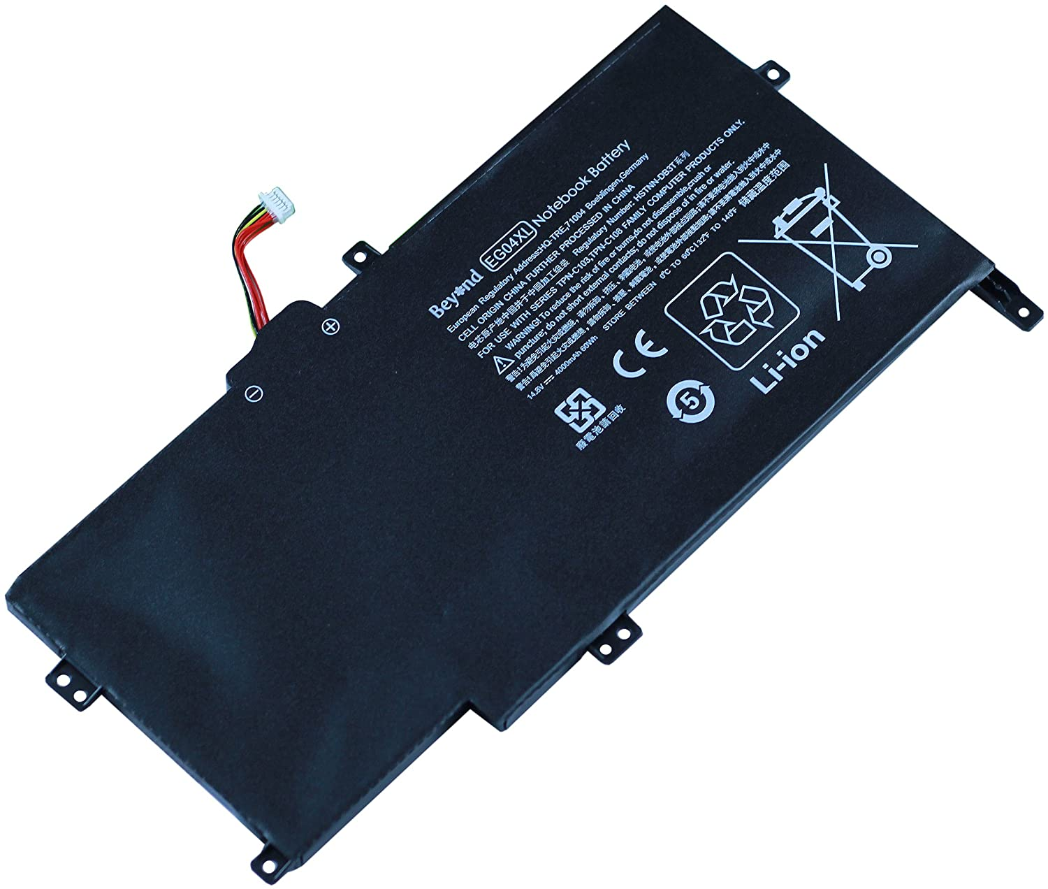 Replacement Beyond Batterie pour HP EG04XL, HP HSTNN-IB3T HSTNN-DB3T TPN-C103 TPN-C108, HP Envy Sleekbook 6 Series, 681881-171 6