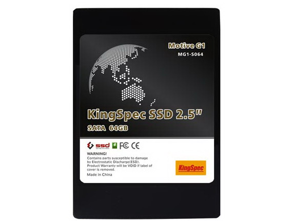 "KingSpec Motive G1 2.5"" SATA 64GB SSD 240MB/s Read"