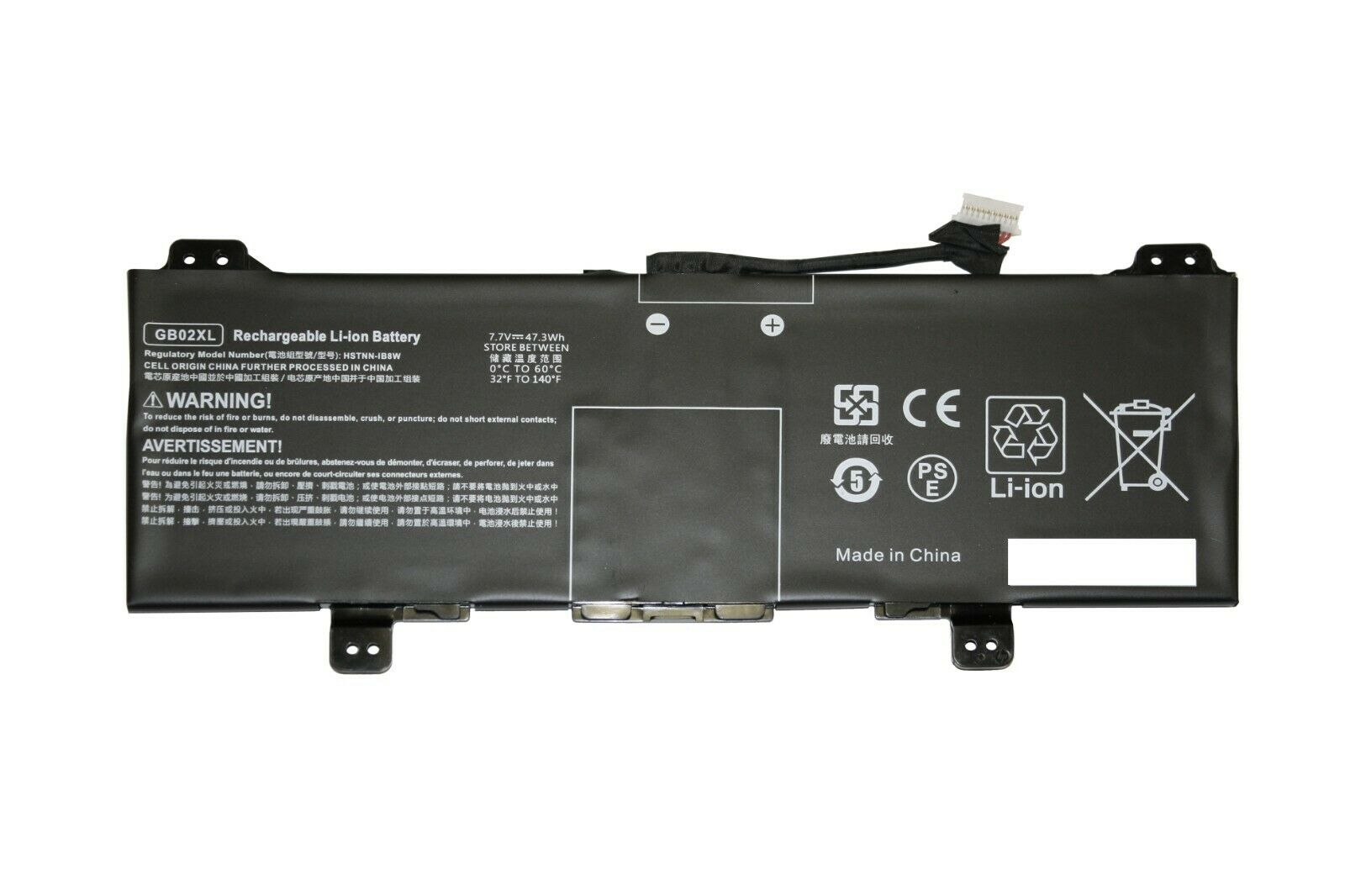 REPLACEMENT GB02XL BATTERY FOR HP CHROMEBOOK 11 G7 EE14-DB 14B-CA L42583-002