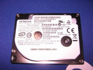 "Hitachi HTC426040G8CE00 40GB IDE 1.8"" ZIF DISQUE DUR HDD"