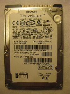80GB ATA IDE DISQUE DUR 7200 rpm 2.5 Hitachi Laptop HDD