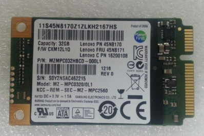 IBM LENOVO THINKPAD T530 32GB MZ-MPC0320/0L1 45N8171 SSD