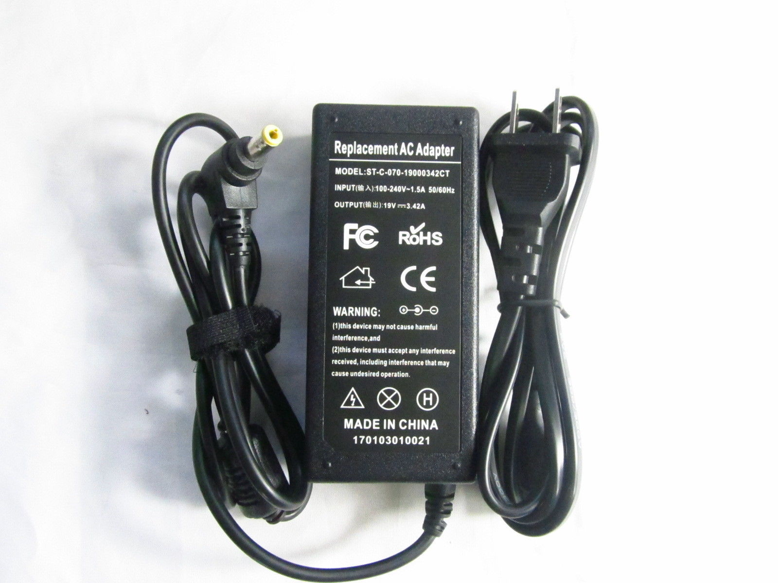 19V 3.42A Toshiba Satellite A100 K000040250 Chargeurs