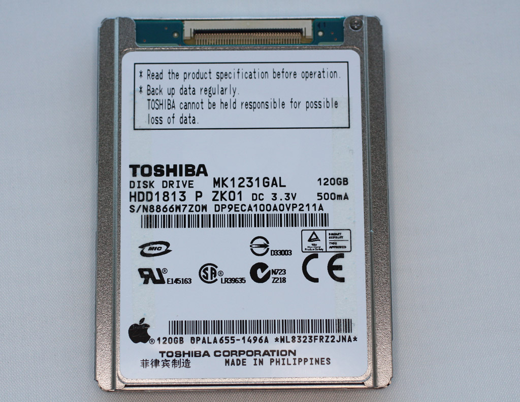 Toshiba MK1231GAL 120GB Mobile ZIF Hard Drive for Apple