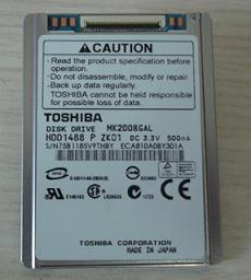 20GB ZIF Toshiba HDD1662 4200RPM 2MB 5.0mm 1.8 in. MK2008GAL