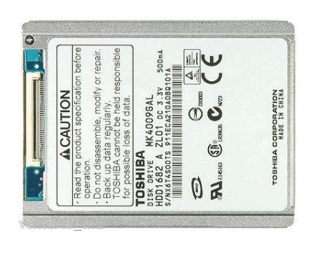 "Toshiba MK4009GAL ZIF 1.8"" 5mm 40GB Hard Drive HDD"