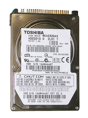 "2.5"" 40GB 8MB 5400RPM MK4032GAX HDD"