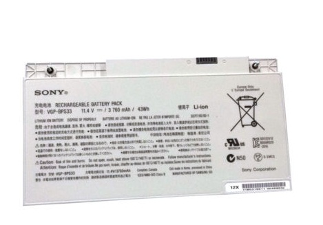 Original 3760mAh/43WH SONY VAIO SVT-15 VGP-BPS33 Batterie PC Portable