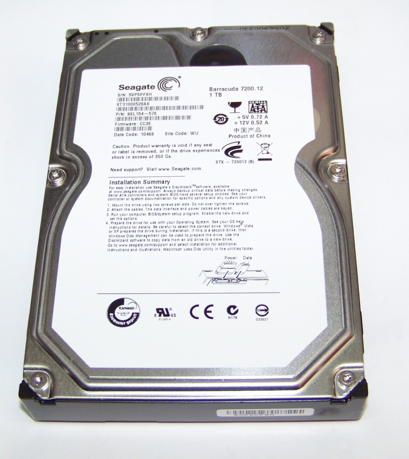 ST31000528AS HDD 1000GB 7200RPM 32MB 3.5""