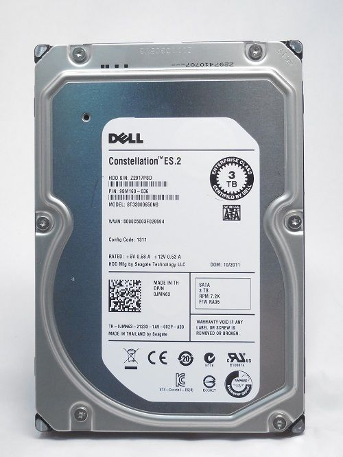 "HP 3TB MDL SATA 3.5"" HDD ST33000650NS"