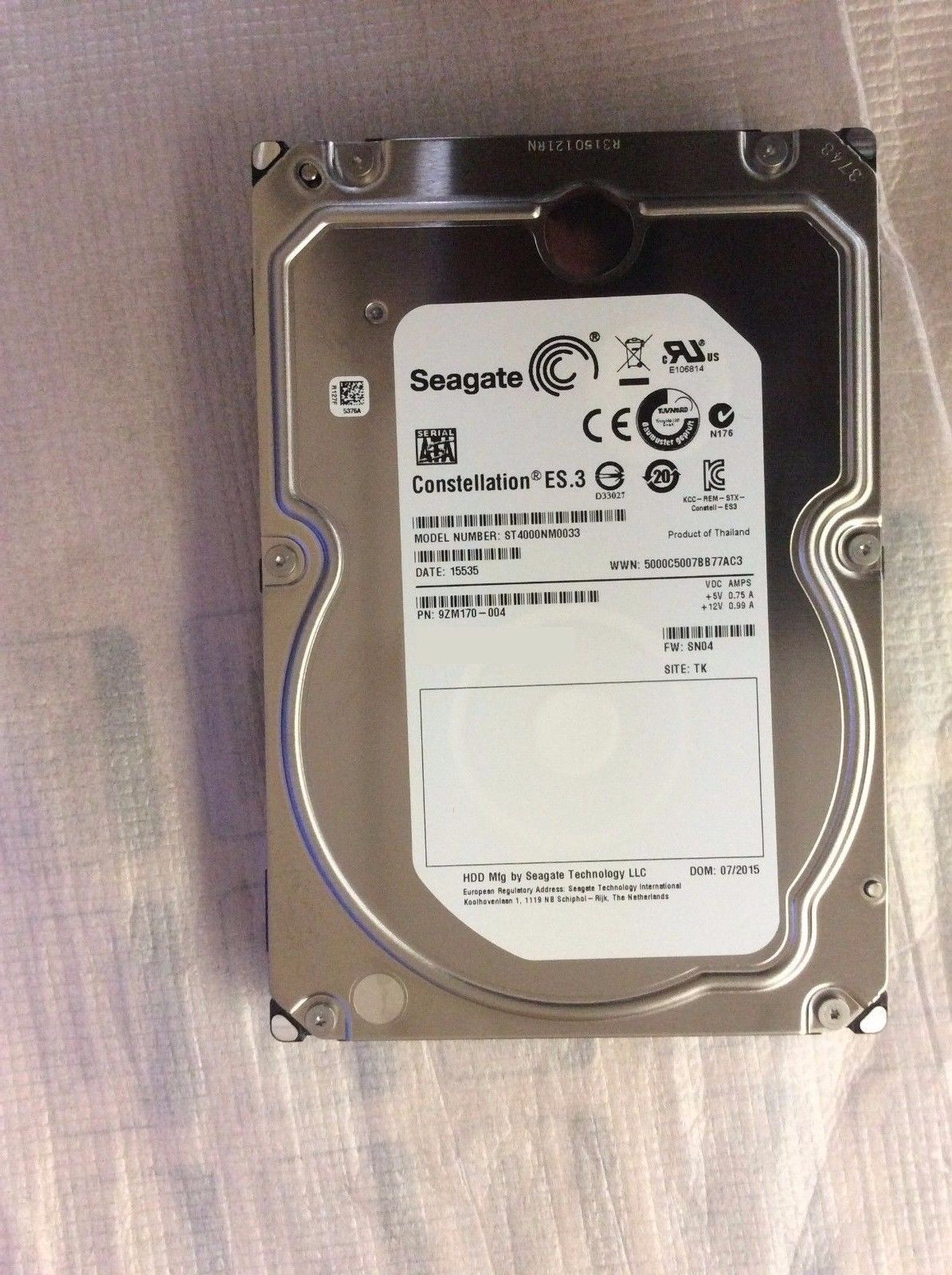 ST4000NM0033 4TB 7200RPM HDD