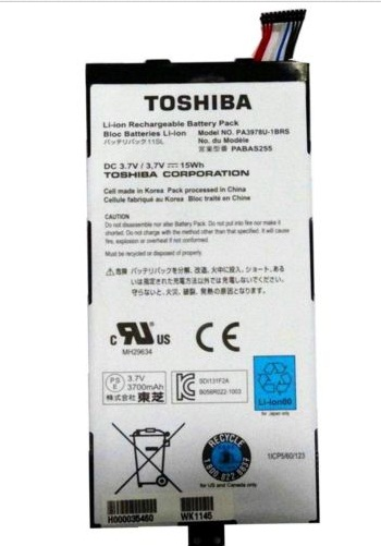 Original 15WH Toshiba Thrive AT1S5 PA3978U-1BRS Batterie PC Portable