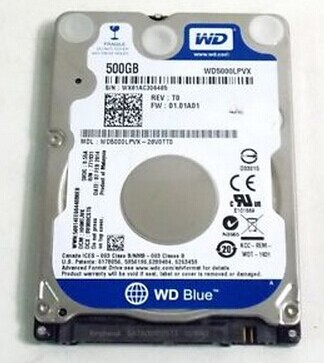 "2.5"" Western Digital 500GB SATA 5400RPM WD5000LPVX HDD"