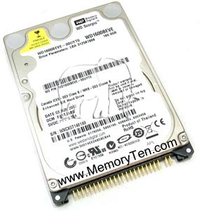 160GB IDE/ATA100 5400RPM 2.5in x 1in 50p 100MB/s Hard Disk Drive