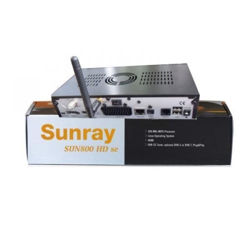 Recepteur Satellite Sunray 800SE Wifi HD TV DVB S2
