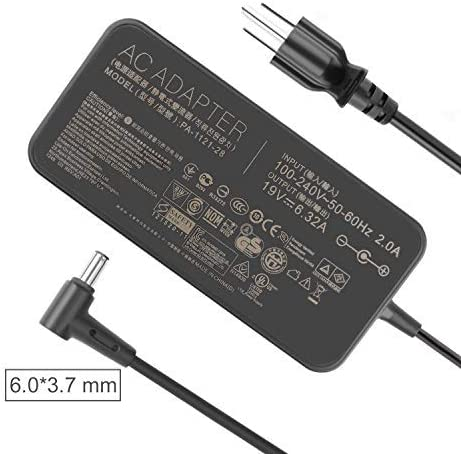 120W 19V 6.32A Charger AC Adapter for ASUS TUF Gaming FX705GM FX705DT FX705GE FX705GD FX505 FX505GD