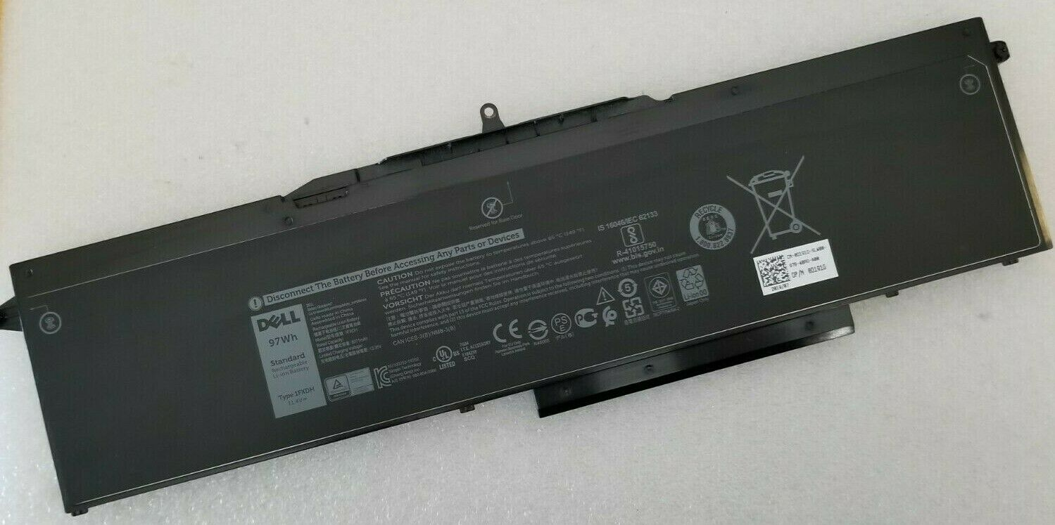 REPLACEMENT 1FXDH BATTERY FOR DELL LATITUDE 5501 5511 PRECISION 3541 3551 97WH