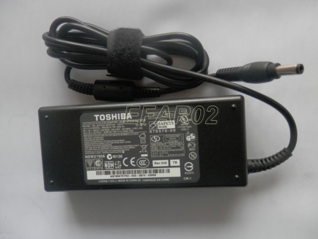 Chargeur Ordinateur Portable TOSHIBA Satellite A205-S4537